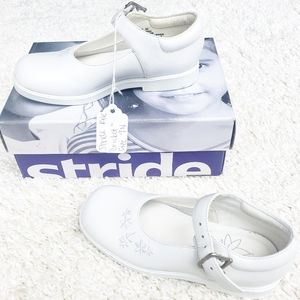 Stride Rite Cricket White Leather Dress Shoes
